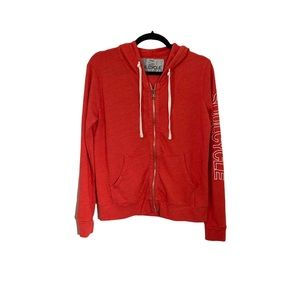 SOULCYCLE Red Full Zip Hooded Sweatshirt
